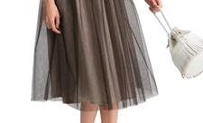 ブラウン チュールスカート
